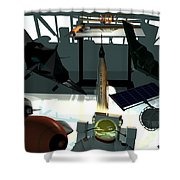 U.s.a. Aviation Inventions That Changed The World. Shower Curtain