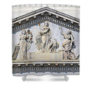 Us Capitol Building Facade Shower Curtain