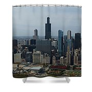 Us Cellular And Wrigley Field Chicago Baseball Parks 3 Panel Composite 02 Shower Curtain