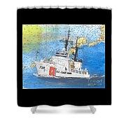 Us Coast Guard Cutter Munro Nautical Chart Cape San Blas Lighthouse Fl Nautical Chart Cathy Peek Shower Curtain