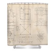 U.s. Coast Guard Drawing Of A Screw Pile Lighthouse Shower Curtain