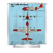 Coast Guard Hc-130 B Hercules Shower Curtain