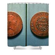 U.s. Coin, 1793 Shower Curtain