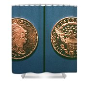 U.s. Currency, 1796 Shower Curtain