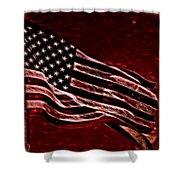 Us Flag Shower Curtain