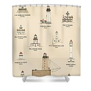 Lighthouses Of The West Coast Shower Curtain