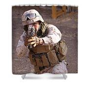 Us Marine At Work Shower Curtain