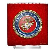 U. S. Marine Corps - U S M C Seal  Shower Curtain