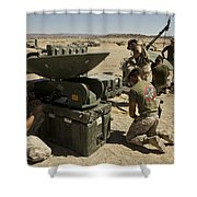 U.s. Marines Assemble A Support Wide Shower Curtain