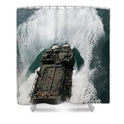 U.s. Marines Drive An Assault Shower Curtain