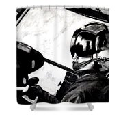 U.s. Marines Helicopter Pilot Shower Curtain