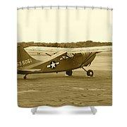 U.s. Military Recon Single Engine Plane Shower Curtain