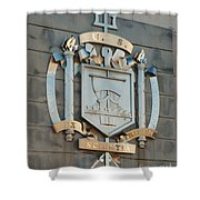 Us Naval Academy Insignia Shower Curtain