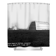 U.s. Naval Air Base Hangar One Is One Of The World's Largest Fre Shower Curtain
