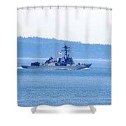 U.s. Navy Ship Shower Curtain