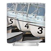 Us Navy Training Sailboats I Shower Curtain
