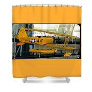 U.s. Navy Yellow Peril Float Biplane Shower Curtain