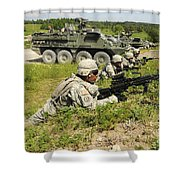 U.s. Soldiers Move Into Firing Shower Curtain