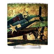 Us Ww II Grumman F4f Wildcat Fighter Plane Shower Curtain