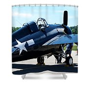 Us Ww II Fighter Plane Shower Curtain
