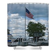Usa Flag 10 Shower Curtain