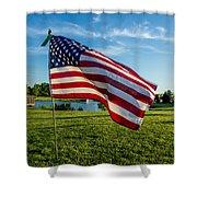 Usa Flag Shower Curtain by Phyllis Bradd