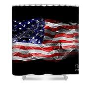 Usa Flag Smoke  Shower Curtain