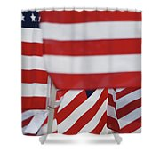 Usa Flags 02 Shower Curtain