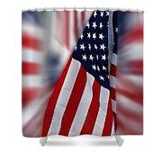 Usa Flags 03 Shower Curtain