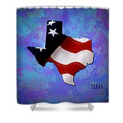 Usa Flagtexas State Digital Artwork Shower Curtain