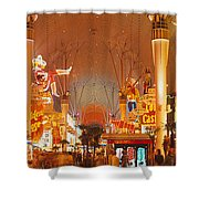 Usa, Nevada, Las Vegas, Night Shower Curtain