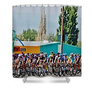 Usa Pro Challenge Bike Race Montrose Colorado Shower Curtain