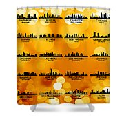 Usa Skylines 3 Shower Curtain