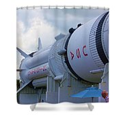 Usa Space Shower Curtain