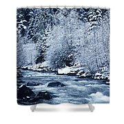Usa, Willamette National Forest Oregon Shower Curtain by Greg Vaughn