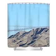 Usaf Thunderbirds Precision Flying Two Shower Curtain