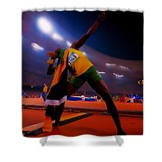 Usain Bolt Number One Shower Curtain