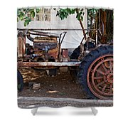 Used Tractor Shower Curtain
