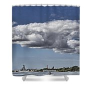 Uss Arizona Memorial-pearl Harbor V2 Shower Curtain