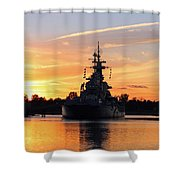 Uss Battleship Shower Curtain