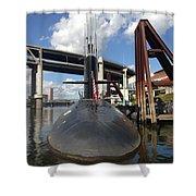 Uss Blue Back Submarine Shower Curtain