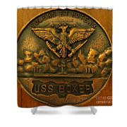 Uss Boxer Plaque Shower Curtain