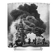 Uss Bunker Hill Kamikaze Attack  Shower Curtain