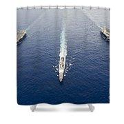 Uss George Washington, Uss Mobile Bay Shower Curtain