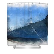 Uss Iowa Battleship Starboard Side Photo Art 01 Shower Curtain