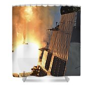 Uss Michael Murphy Fires An Rim-66m Shower Curtain