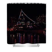 Uss Midway At Night Shower Curtain