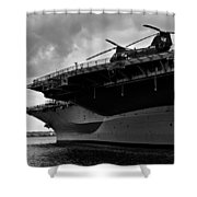 Uss Midway Helicopter Shower Curtain