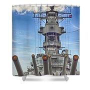 Uss Missouri-pearl Harbor Hawaii Shower Curtain
