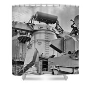 Uss Missouri- Radar System Shower Curtain